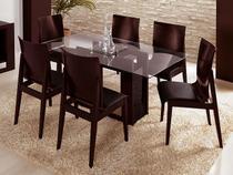 Sala de Jantar Evidence com 6 Cadeiras  - Rudnick