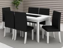Sala de Jantar Hanover 6 Cadeiras   - Madesa