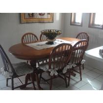 Sala de Jantar Madeira Maciça 1,80 x 90 - ( 06 Cadeiras ) - Flávio Móveis Gramado