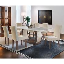 Sala de Jantar Milena 6 cadeiras Grécia Rufato -