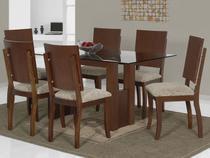 Sala de Jantar Valência Luna 6 Cadeiras - Carmo Móveis