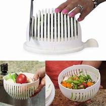 Salad Cutter Bowl Cortador Fatiador De Salada Frutas Vegetais Legumes - --