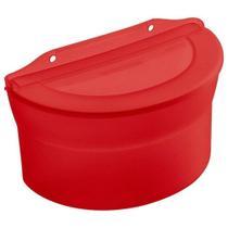 Saleiro Plástico Grande Vermelho 885ml - Sanremo -