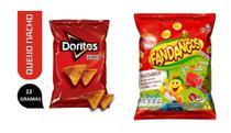 Salgadinhos Elma Chips Doritos + fandangos presunto Caixa C/ 50un total -
