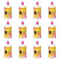 Salon Line Hidratação Original Creme Pentear 1 L (Kit C/12) -