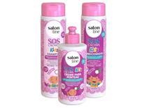 Salon Line Infantil Sos Cachos Kids Shampoo + Condicionador + Creme Pentear -