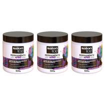 Salon Line Permanente Afro Creme 500g (Kit C/03) -