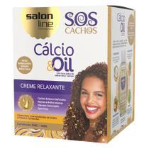Salon Line S.O.S Cachos Cálcio & Oil Kit - Creme Relaxante + Óleo Hidratante -
