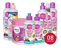 Salon Line To De Cachinhos Infantil Liberado Kit + Mascara Sos Kids + Multy Kids 08 Produtos -