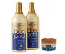 Salvatore Escova Progressiva Blue Gold (2 kits) + Máscara Xpres 250g