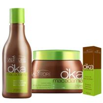 Salvatore Kit Macadamia Shampoo 300ml + Máscara 250g + Óleo 15ml