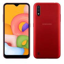 """Samsung Galaxy A01 Vermelho, com Tela de 5,7"""", 4G, 32GB e Câmera Dupla de 13MP + 2MP - SM-A015MZREZTO -"""