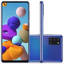 "Samsung Galaxy A21s 6,5"" Dual Chip 64GB 4GB RAM Azul Octa Core Câmera Quádrupla 48MP Selfie 13MP -"