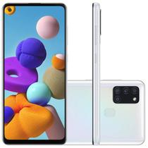 "Samsung Galaxy A21s 6,5"" Dual Chip 64GB 4GB RAM Branco Octa Core Câmera Quádrupla 48MP Selfie 13MP -"