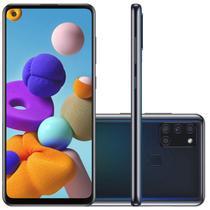 "Samsung Galaxy A21s 6,5"" Dual Chip 64GB 4GB RAM Preto Octa Core Câmera Quádrupla 48MP Selfie 13MP -"