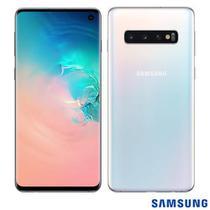 """Samsung Galaxy S10 Branco, com Tela Infinita de 6,1"""", 4G, 128GB e Câmera Tripla de 12MP+12MP+16MP - SM-G973FZWJZTO -"""