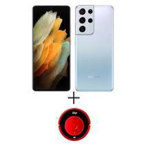 Samsung Galaxy S21 Ultra Prata, Tela 6,8, 5G, 256GB - SMG998BZSKZTO + Aspirador de Po Robot W300 0,3 Litros-ROBOTW300 -