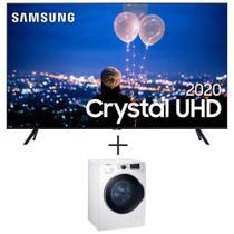"Samsung Smart TV Crystal UHD TU8000 4K 55"" + Lavadora de Roupas 11 Kg Samsung Eco Bubble Branca  110V - WW11K6800AW -"