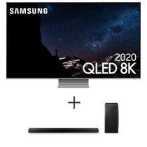"""Samsung Smart TV QLED 8K Q800T 75"""", Borda Infinita + Soundbar Samsung com 3.1.2 Canais e Subwoofer Sem Fio - HW-Q800T/ZD -"""