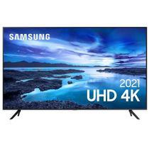 """Samsung Smart TV UHD 4K 75"""" com Processador Crystal 4K, Controle Único, Alexa Built in e Wi-Fi - UN75AU7700GXZD -"""