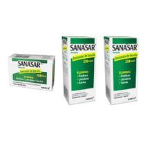 sanasar benzoato de benzila elimina piolhos lêndeas sarna kit 1x sabonete 2x emulsão - kley hertz -