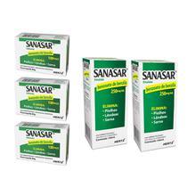 sanasar benzoato de benzila elimina piolhos lêndeas sarna kit 3x sabonete 2x emulsão - kley hertz -