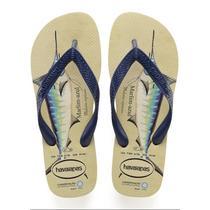 Sandalia chinelo conserv. internacional -havaianas - bege palha/marinho -