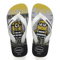 Sandalia chinelo kids minions - havaianas - cinza gelo -