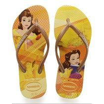 Sandalia chinelo kids slim princess - havaianas - amarelo polen -
