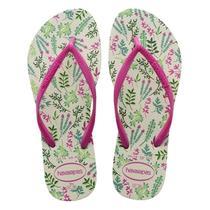 Sandalia chinelo slim romance - havaianas - branco/rosa -
