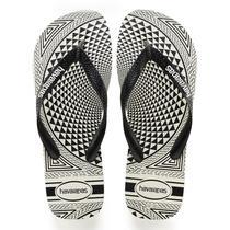 Sandalia chinelo top illusion - havaianas - branco/preto -