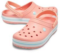 Sandália Crocband infantil melon/ice - Crocs