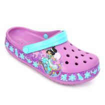 Sandália Crocs Infantil Fun Lab Princess Jasmine Band Clog -