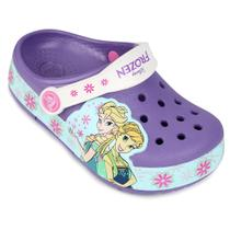 Sandália Crocs Infantil Lights Frozen Fever Clog