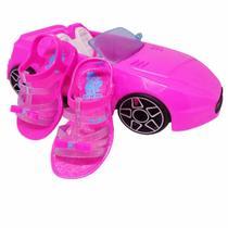 Sandália da Barbie Pink com Carro - Grendene