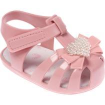 Sandália de plástico bebê rosa Colorê - Pimpolho