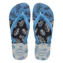 Sandália Havaianas Aloha Cinza Gelo/Azul Aço 37/38 -