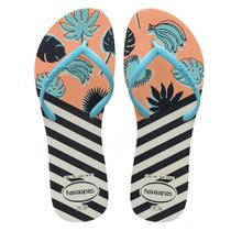 Sandália Havaianas Flat Mix Branco/Azul 35/36 -