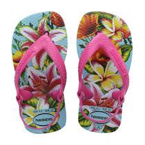 Sandália Havaianas - New Baby Chic - Florais Praiana - Naval - Havaianas -