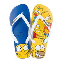 Sandalia Havaianas Simpsons Branco -
