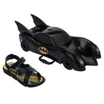 Sandália Infantil Menino Batman Batmóvel 22169 -