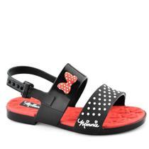 Sandália Infantil Minnie Chic 21861 - 23 ao 32 Preto-vermelho-branco - Disney Mickey Minie