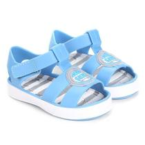 Sandália Infantil Tamanho 18 Colore Azul Pimpolho 27350E -