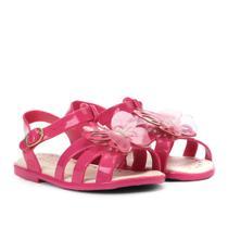 Sandália Infantil World Colors Glitter Aplique Borboleta Feminina -