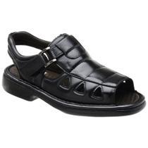 Sandália Masculina Conforto Em Couro Dia a Dia - D&R Shoes