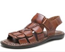 Sandalia Masculina Couro - Tchwm Shoes