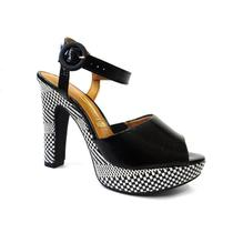 Sandalia meia pata 6292.123 - vizzano (17) - preto/multi preto -