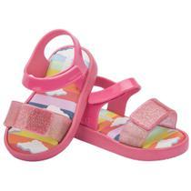 Sandália mini melissa jump sunny day baby rosa 17/18 -