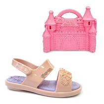 a5e4219aa Sandalia princesas castelo real baby - grendene - rosa/violeta -