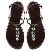 ea4037d2d2 Sandália Rasteira Feminina Mercedita Shoes Verniz Fivela